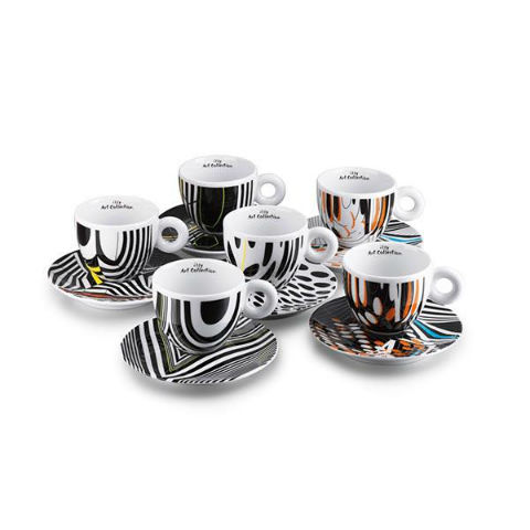illy cesti colectie Tobias Rehberger – 6 cesti cappuccino 2