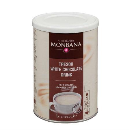 Ciocolata calda alba MONBANA Tresor au Chocolat 500g 1