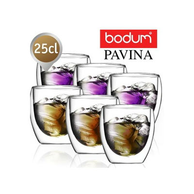 Set 6 pahare Bodum Pavina 250 ml 1