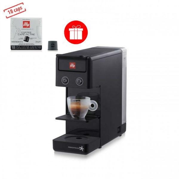 Espressor illy Y3.2 New Edition negru + CADOU 1